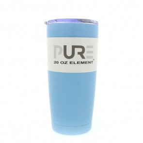 20oz Double Wall Stainless Steel Tumbler w/Lid - Powder Blue