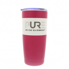 20oz Double Wall Stainless Steel Tumbler w/Lid - Pink
