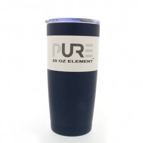 20oz Double Wall Stainless Steel Tumbler w/Lid -Navy Blue