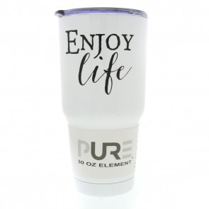 30oz Double Wall Stainless Steel Tumbler W/Lid - 'Enjoy Life'