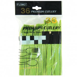 Lime Green Premium Cutlery