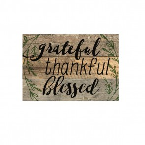 P. Graham Dunn Barnhouse Block Plaque - 'Grateful, Thankful, and Blessed' Room Decor