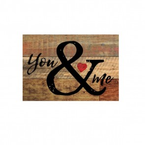 P. Graham Dunn Mini Sign Wood Plaque - 'You & Me' Room Decor