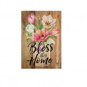 P. Graham Dunn Mini Sign Wood Plaque - 'Bless This Home'