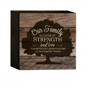 P. Graham Dunn Boxed Pallet Wood Plaque - 'Our Family'