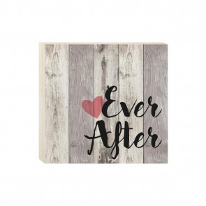 P. Graham Dunn Boxed Pallet Wood Plaque - 'Ever After'