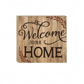 P. Graham Dunn Boxed Pallet Wood Plaque - Small 'Welcome To Our Home'