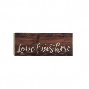 P. Graham Dunn Boxed Pallet Wood Plaque - 'Love Lives Here'