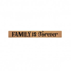 P. Graham Dunn Primitive Stick Plaque - 'Family is Forever' Room Decor