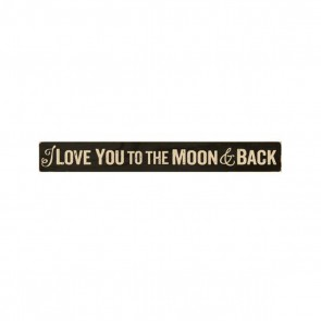 P. Graham Dunn Primitive Stick Plaque - 'To The Moon and Back' Room Decor