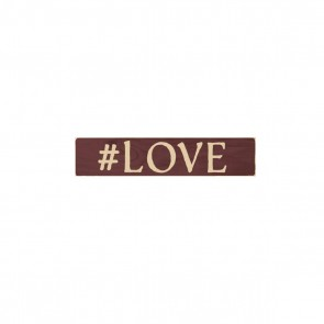 P. Graham Dunn Primitive Stick Plaque - '#Love' Room Decor