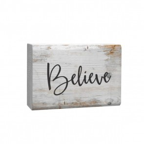 P. Graham Dunn Barnhouse Block Plaque - 'Believe' Room Decor