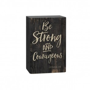 P. Graham Dunn Barnhouse Block Plaque - 'Be Strong And Courageous' Room Decor