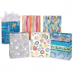 Large Abstract Hot Stamping Gift Bags