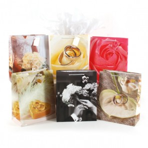 FLOMO Large Treasured Moments Wedding Gift Bags - Assorted