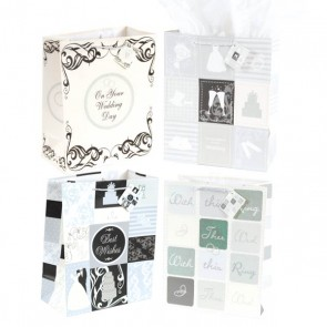 FLOMO Extra Large Wedding Day Wishes Gift Bags - Assorted