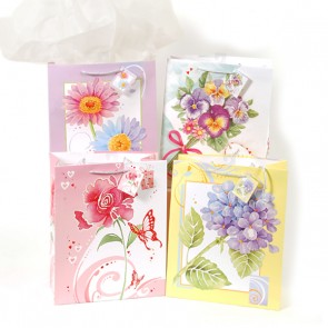 Large Spring Floral Water Colors Gift Bags
