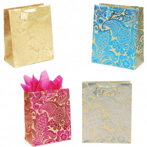 Hot Stamping Brown Kraft Bag - Assorted Designs