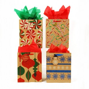 large beauty of tradition kraft bags assorted