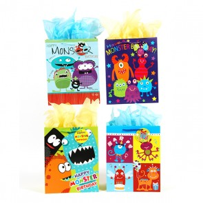 Large Monster Mash with Googly Eyes Gift Bags - Assorted
