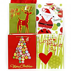 Large Love, Peace and Joy Gift Bags - Assorted