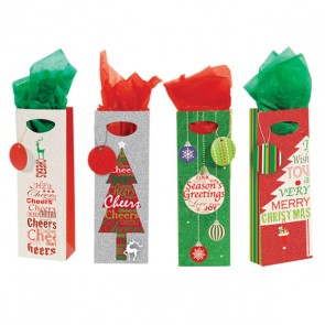 Holiday Cheers Bottle Gift Bags by FLOMO