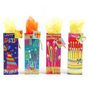 """""""Happy Happy Day"""" Bottle Gift Bags by FLOMO"""