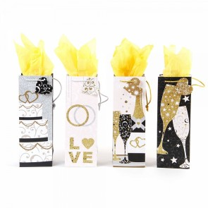 FLOMO Bottle Bubbly Wishes Wedding Gift Bags - Assorted