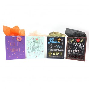 "FLOMO Large ""Comfort Blessings"" Christian Gift Bags"