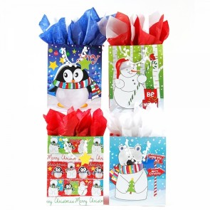 "FLOMO Large ""North Pole Friends"" Christmas Gift Bags"