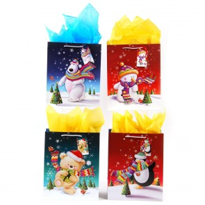 """Extra Large """"Winter Scarves"""" Christmas Gift Bags by FLOMO"""