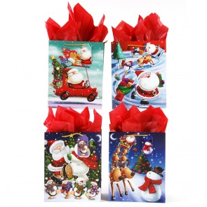 "Large ""Winter Christmas Fun"" Glitter Gift Bags by FLOMO"