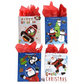 """Large """"Cosmic Christmas"""" Pop Layer Gift Bags by FLOMO"""