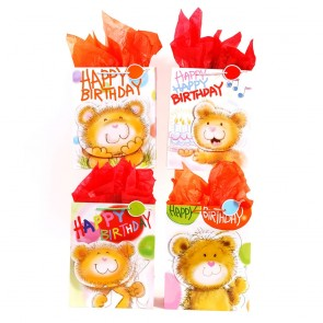 "FLOMO Large ""Happy Bear Birthday"" Gift Bags"