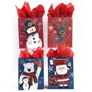 "Medium ""Craft Stitch Christmas"" Pop Layer Christmas Gift Bags by FLOMO"
