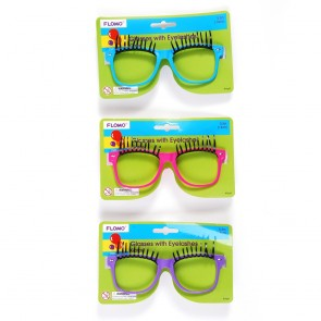 FLOMO Novelty Glasses with Eyelashes