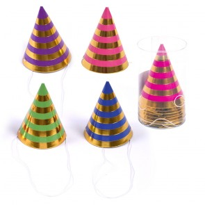 Bright Stripe Mini Party Hats by FLOMO