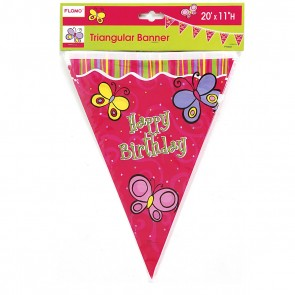 Butterfly Triangular Banner