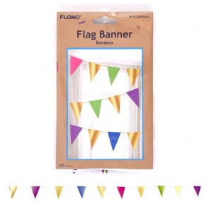 8' Metallic Paper Flag Banner by FLOMO