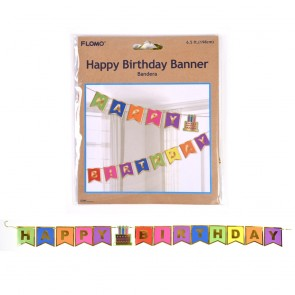 Birthday Hot Stamp Paper Banner by FLOMO