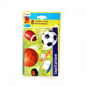 All Star Sports Invitation Cards - 8 Pack