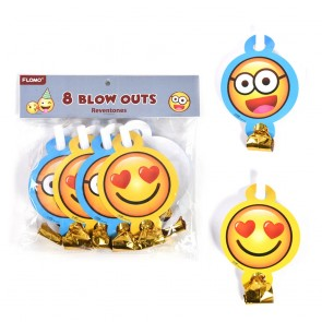 Smiley Face Party Blowout Noisemakers by FLOMO