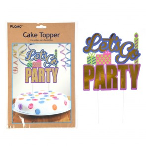 Let's Go Party Cake Topper by FLOMO