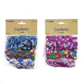 Pink and Blue Party Confetti by FLOMO