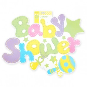 Baby Shower Double Sided Cutout by FLOMO