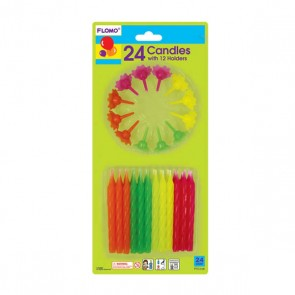FLOMO Neon Birthday Candles
