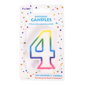 """FLOMO 3"""" OMBRE BIRTHDAY CANDLE - NUMBER """"4"""""""