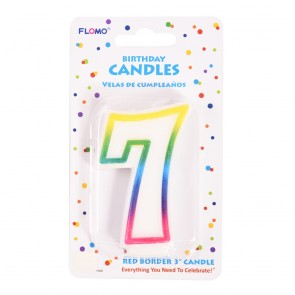 """FLOMO 3"""" OMBRE BIRTHDAY CANDLE - NUMBER """"7"""""""