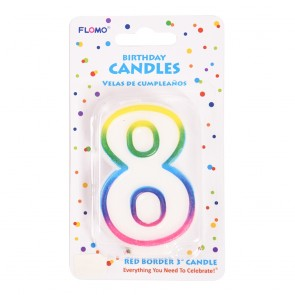 """FLOMO 3"""" OMBRE BIRTHDAY CANDLE - NUMBER """"8"""""""