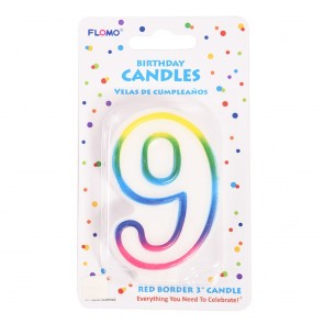 """FLOMO 3"""" OMBRE BIRTHDAY CANDLE - NUMBER """"9"""""""